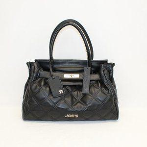 NWT! Joe's Black Posh Quilted Handbag